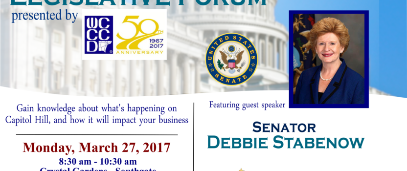 Senator Debbie Stabenow to Speak at Southern Wayne County  Regional Chamber's Legislative Forum
