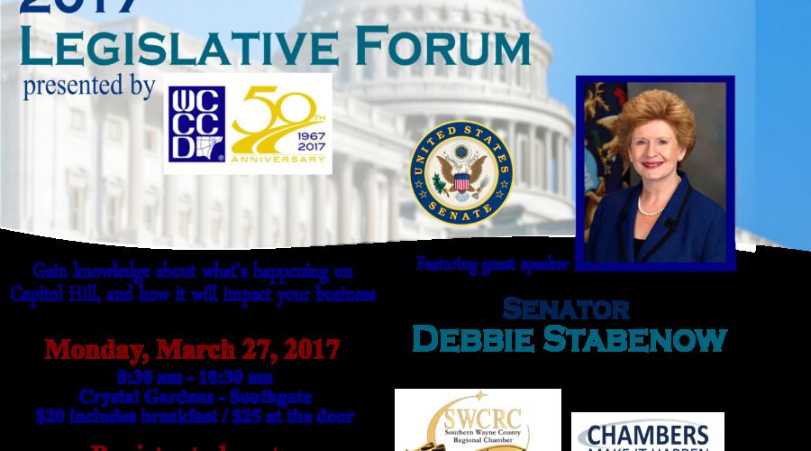 Senator Debbie Stabenow to Speak at Southern Wayne County  Regional Chamber's Legislative Forum
