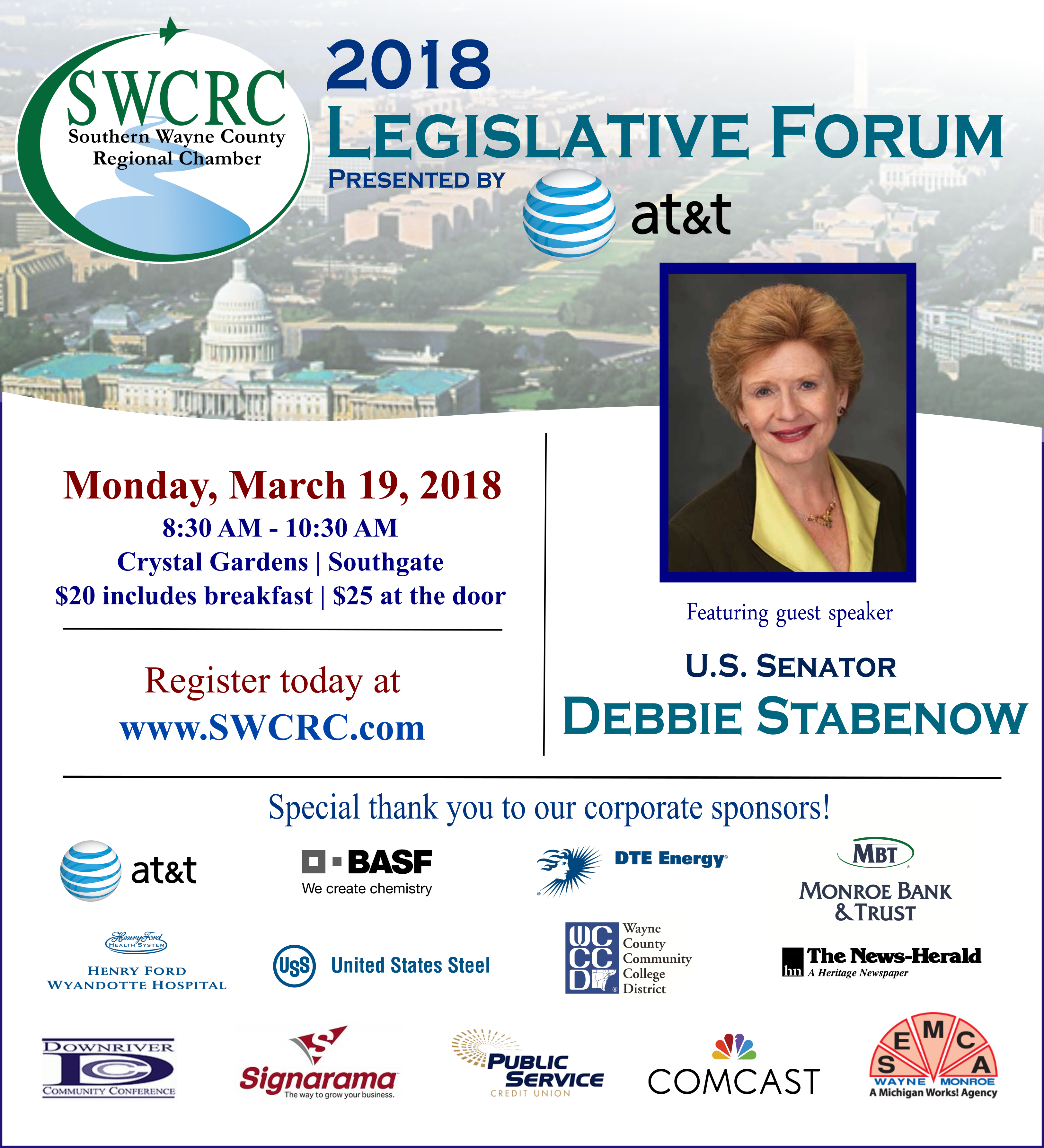 the legislative and business forum is an exciting series that features our elected and business leaders in the southeastern michigan region